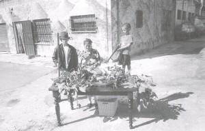 La Signora del formaggio con i figli Carlo e Daniele