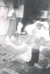 Apertura della fossa, Felice, Carlo e Daniele Facchini